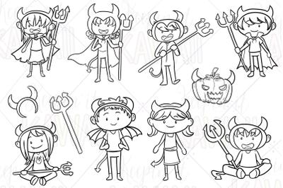 Little Devils Digital Stamps