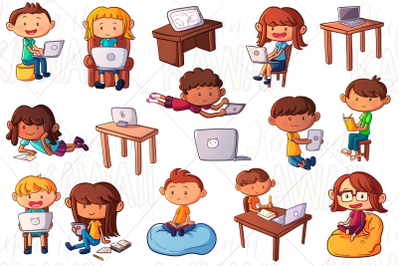 Distance Learning Clip Art