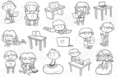 Distance Learning Digital Stamps