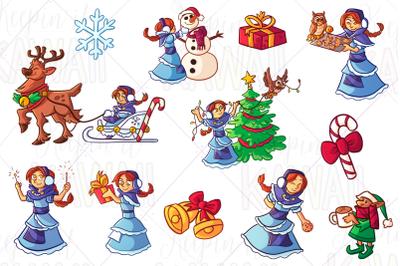 Winter Princess Clip Art