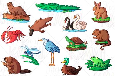 Wetland Animals Clip Art
