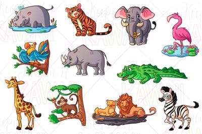Zoo Animals Clipart