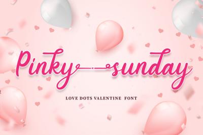 Pinky Sunday - Script Font