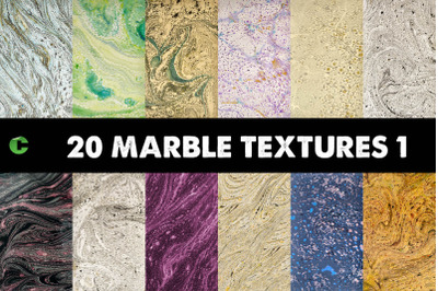 20 Marble Textures Pack 1
