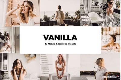 20 Vanilla Lightroom Presets & LUTs