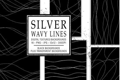 Silver Wavy Lines