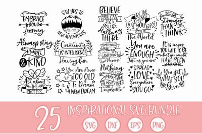 Inspirational Quotes SVG Bundle Cut files