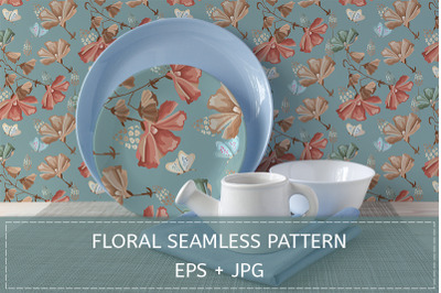 Floral pattern. Retro style.