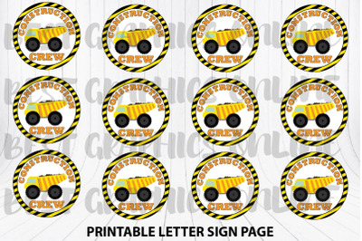 Construction Crew Party Favor Stickers