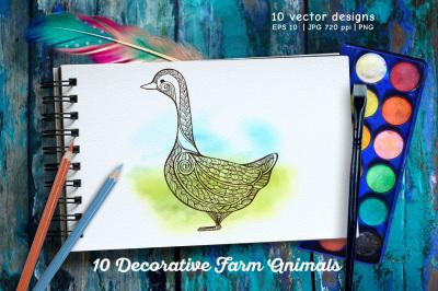10 Decorative Farm Animals