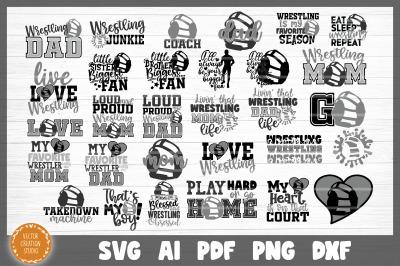 Wrestling SVG Bundle Cut Files
