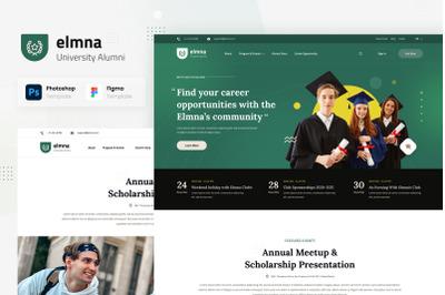 Elmna  University Alumni Website UI