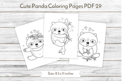 Panda coloring pages PDF 29