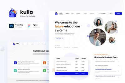 Kulia - Modern University Website UI