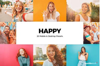 20 Happy Lightroom Presets & LUTs