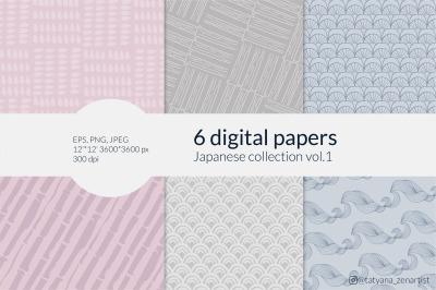 Japanese digital paper Collection, Japanese digital backgrounds