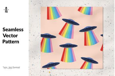 Ufo seamless pattern