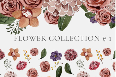 floral collection watercolor