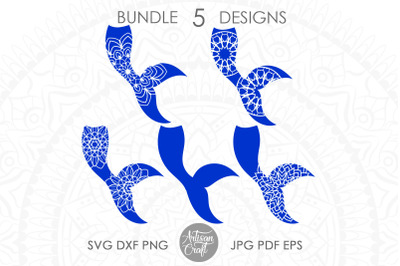 Mermaid tail mandala SVG, Mermaid tail SVG, mermaid clipart
