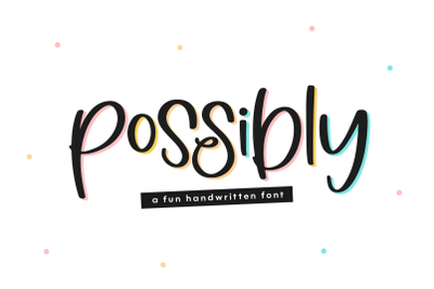 Possibly - Quirky Handwritten Font