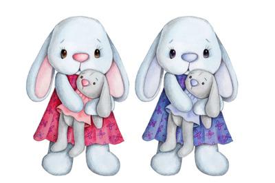 2 Cute Bunny Girls