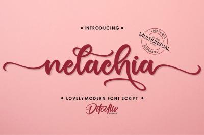 nelachia - Lovely Font Script