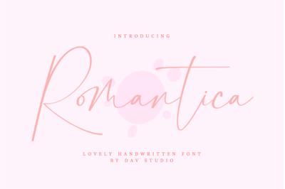 Romantica - Lovely Handwritten Font