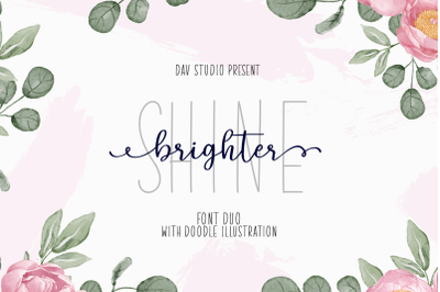 Shine Brighter - Font Duo With Extras