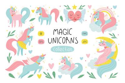Magic unicorns collection