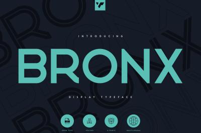 Bronx - Sans Serif typeface 6 fonts