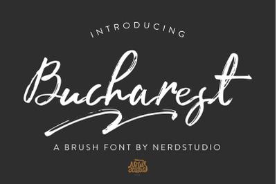 Bucharest Brush Font