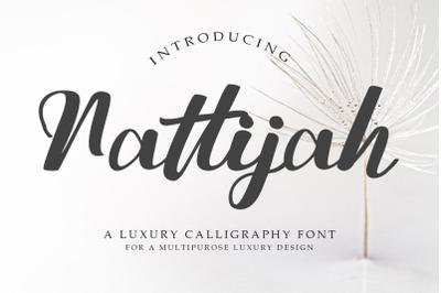 Nattijah Luxury Calligraphy Font