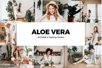 20 Aloe Vera Lightroom Presets & LUTs