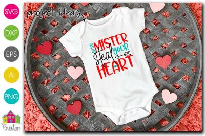 Little Mister Steal Your Heart Valentine SVG File