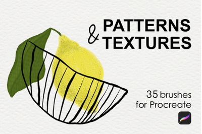 Patterns & textures brushes Procreate