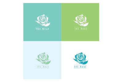 Logo the flower Rose vector
