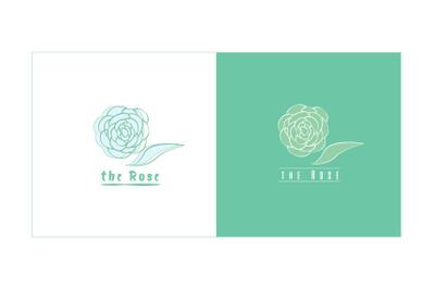 Logo the symbol flower Rose vector