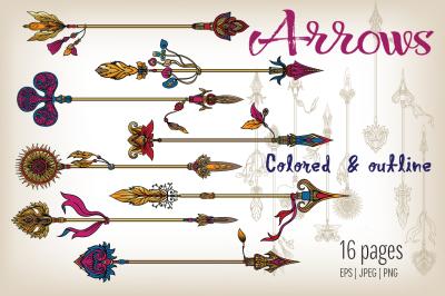 Set of Decorative Arrows