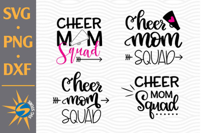 Cheer Mom Squad SVG, PNG, DXF Digital Files Include