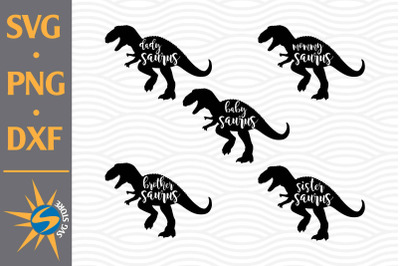 Saurus Family SVG, PNG, DXF Digital Files Include