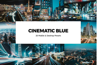20  Cinematic Blue LR Presets