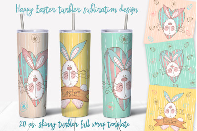 Skinny tumbler Png. Happy Easter Png. Easter sublimation design.
