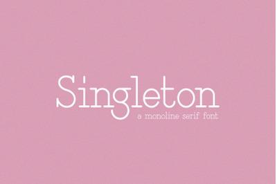 Singleton Serif Font (Monoline Fonts)