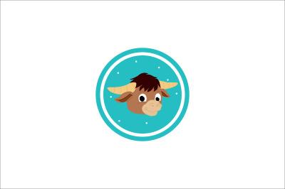 chinese new year buffalo head icon fill