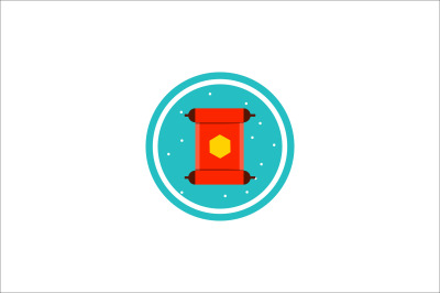 chinese new year rolls of paper icon fill-02