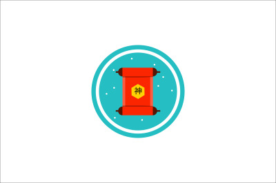 chinese new year rolls of paper icon fill-03