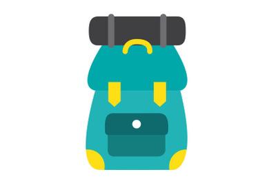 Camping Mountain bag Flat Icon