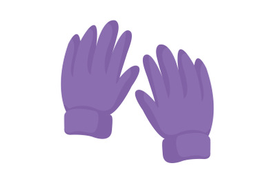Camping Gloves Flat Icon