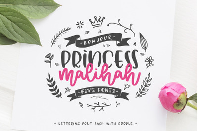 Malihah - Five Fonts -