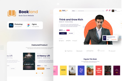 Bookland - Book Store Ecommerce UI